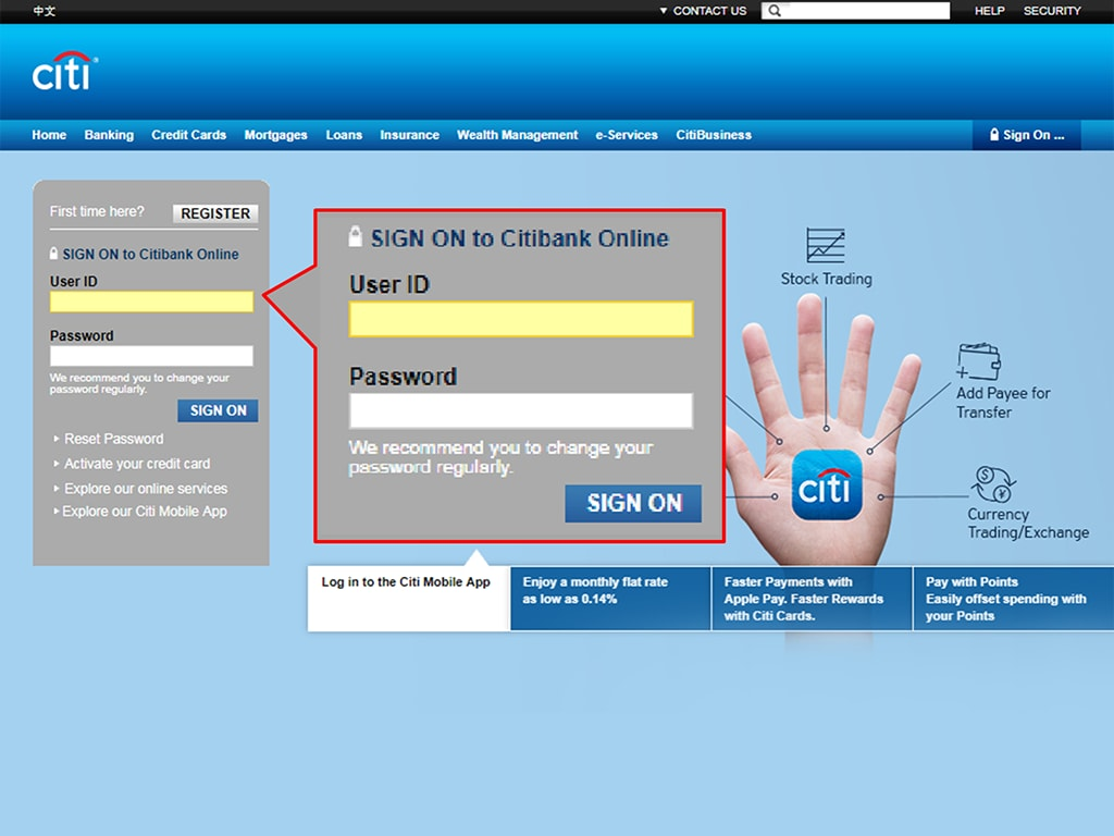 Citi live chat citibank hong kong for Siti mobili on line